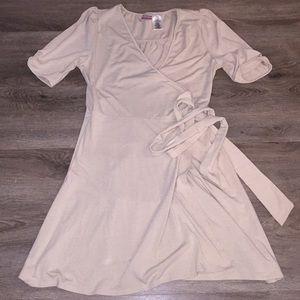 Dresses & Skirts - Cream Wrap Dress